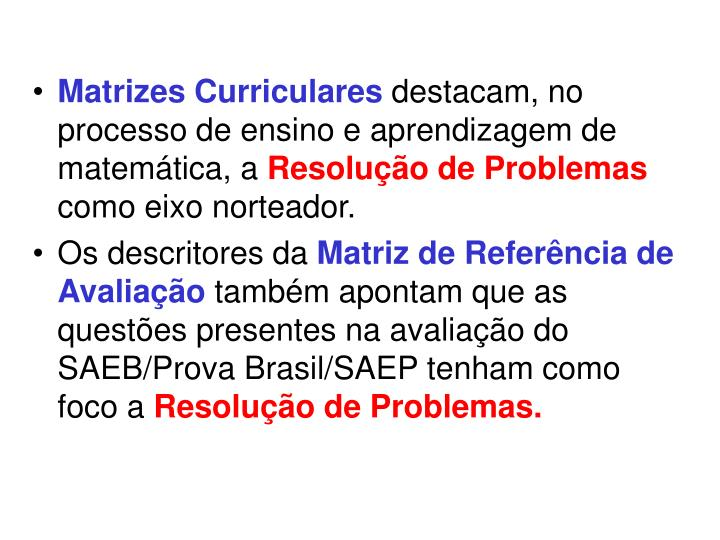 Matrizes Curriculares