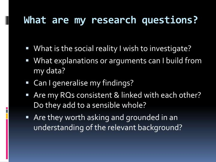 What are my research questions?