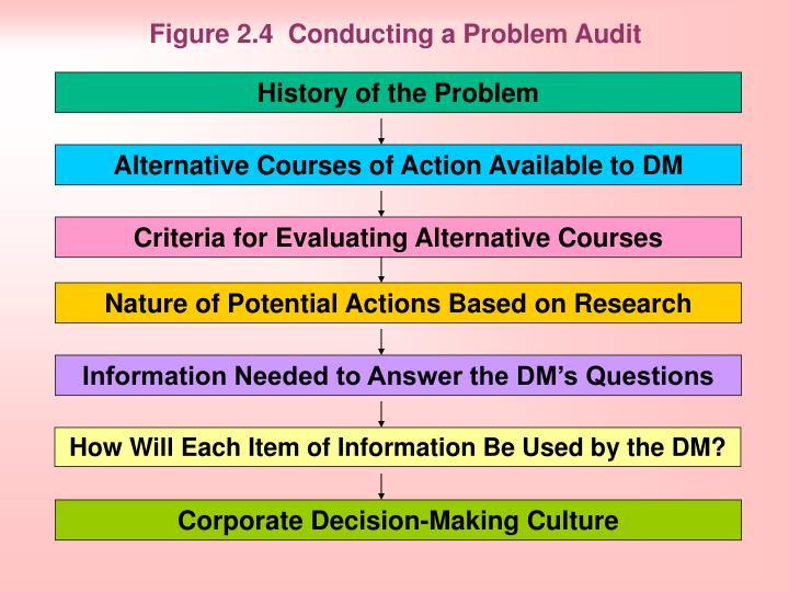 Figure 2.4  Conducting a Problem Audit