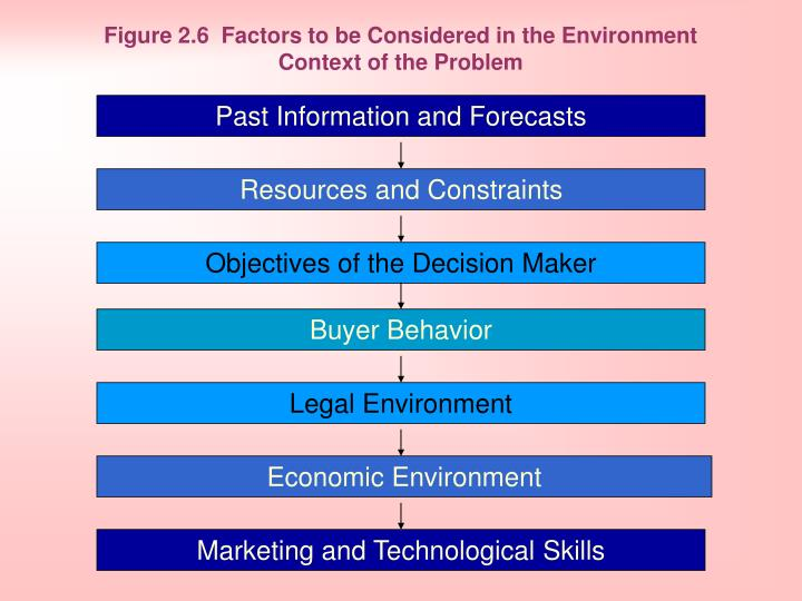 Figure 2.6 Factors to be Considered in the Environment Context of the Problem
