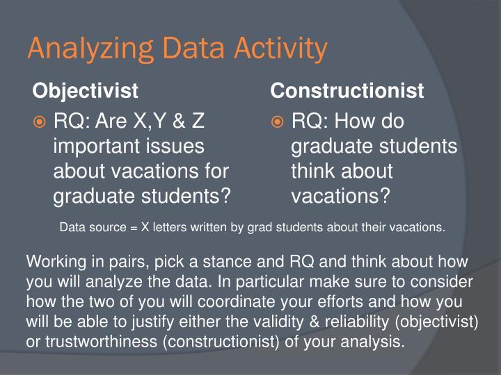 Analyzing Data Activity