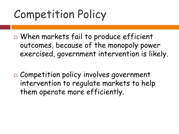 Competition policy1