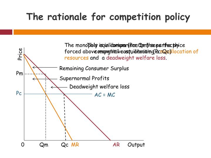 The rationale for competition policy