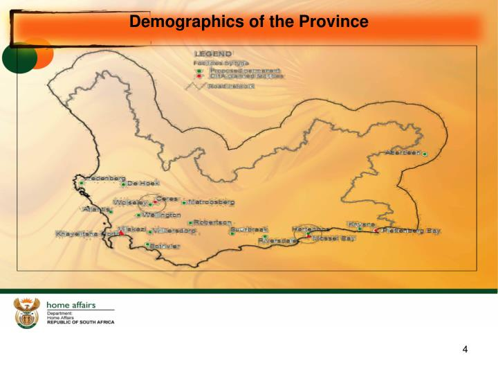 Demographics of the Province