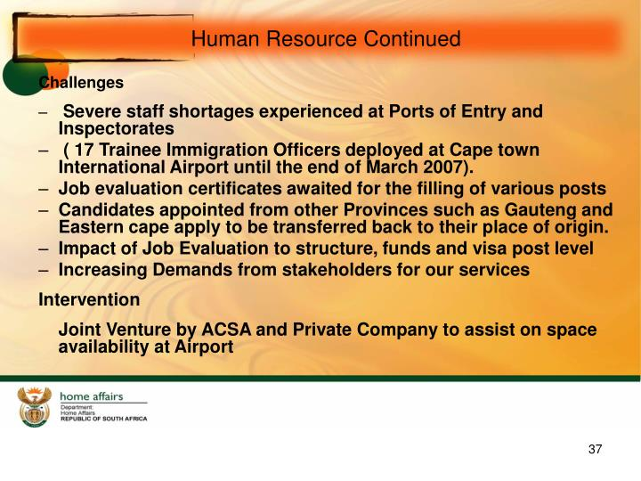 Human Resource Continued