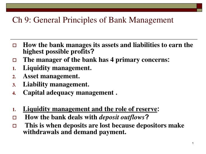 principles of banking management This case study of a recent lean initiative implemented by the lab consulting scoping out a lean banking principles there was no way for management to.