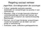 regeling sociaal verkeer jager mok grondbeginselen der sociologie