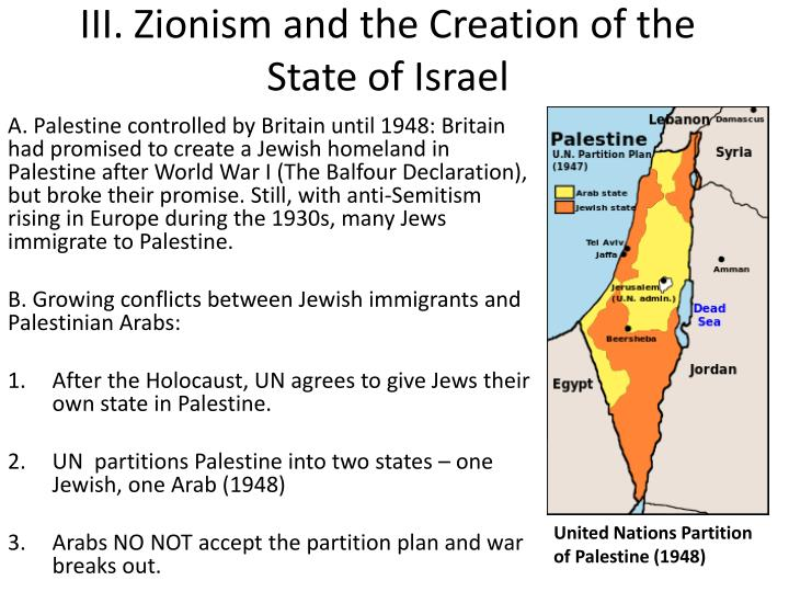 zionism and the creation of israel