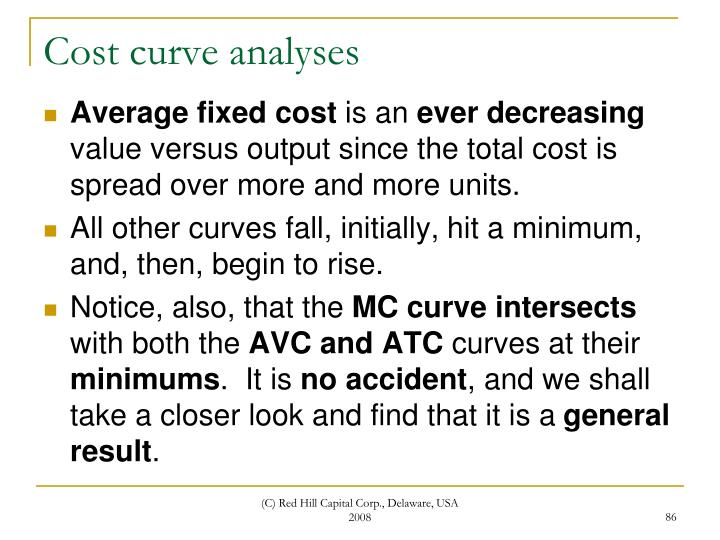 Cost curve analyses