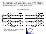 comparison with beamformers and rap music1