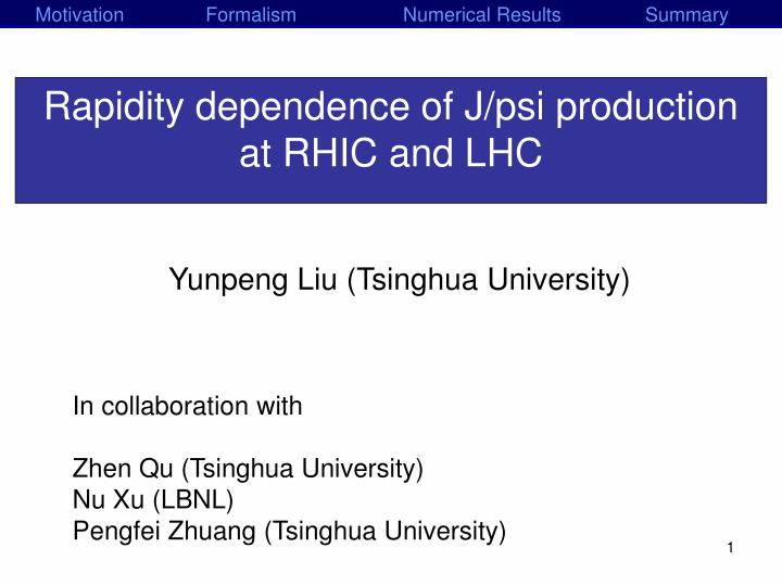 rapidity dependence of j psi production at rhic and lhc n.
