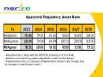 approved regulatory asset base