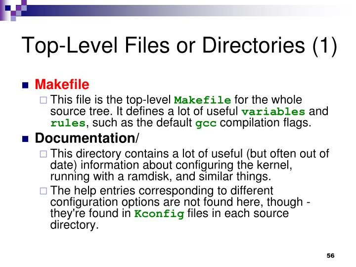 Top-Level Files or Directories (1)