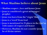 what muslims believe about jesus
