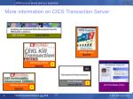 more information on cics transaction server