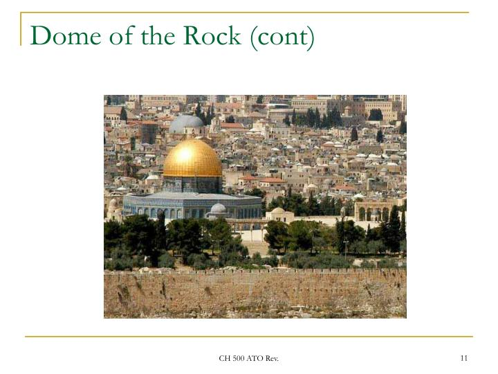 Dome of the Rock (cont)
