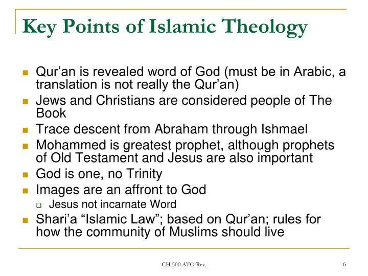 Key Points of Islamic Theology