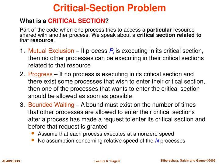 Critical-Section Problem