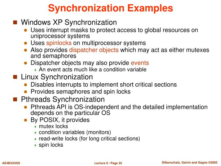 Synchronization Examples