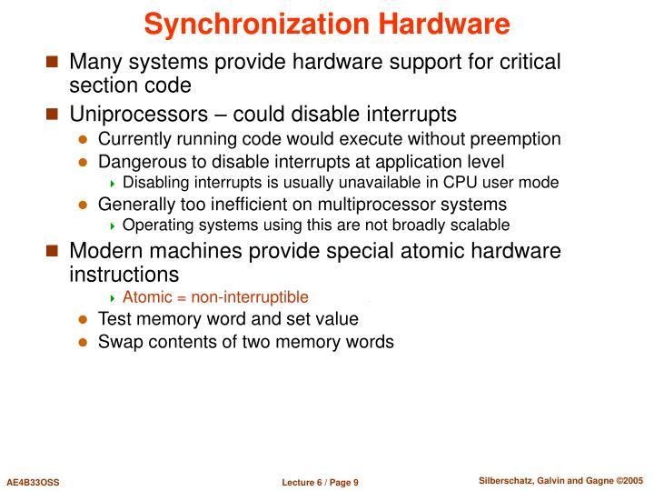 Synchronization Hardware