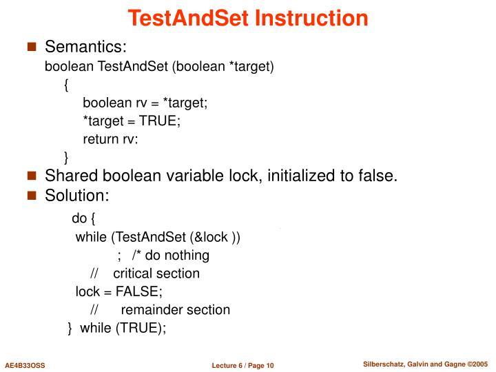 TestAndSet Instruction