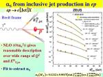 s from inclusive jet production in ep