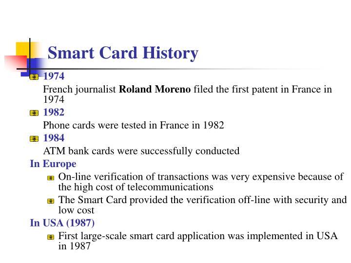 smart card history