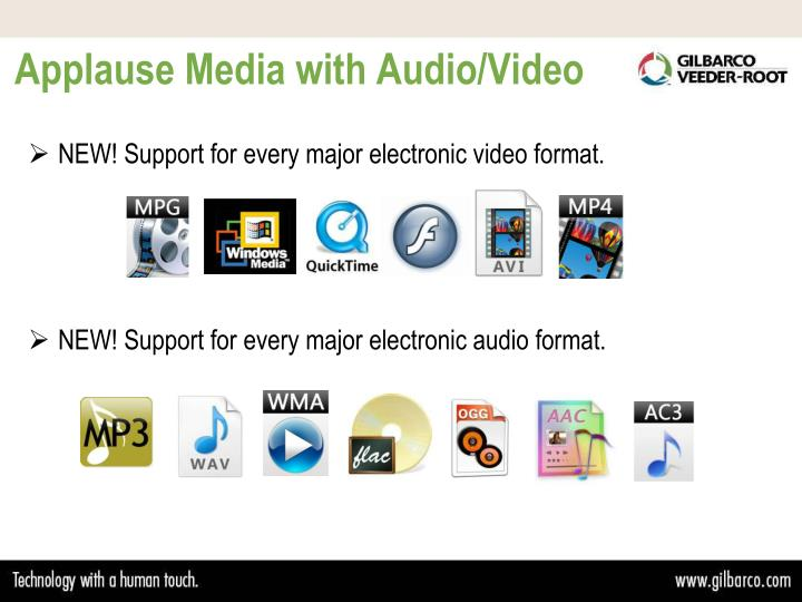 Applause Media with Audio/Video
