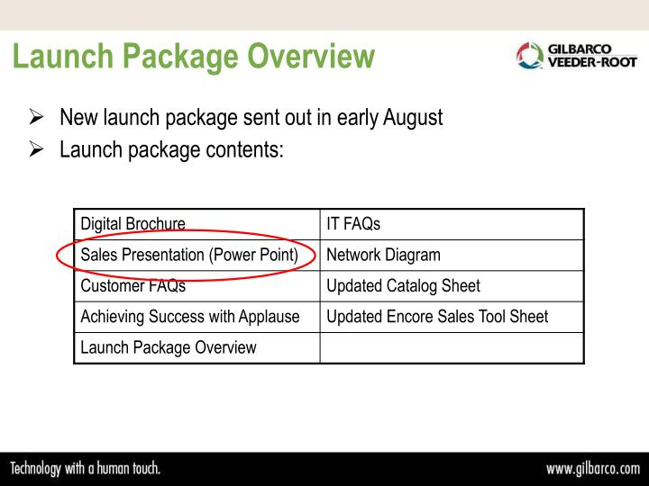 Launch Package Overview