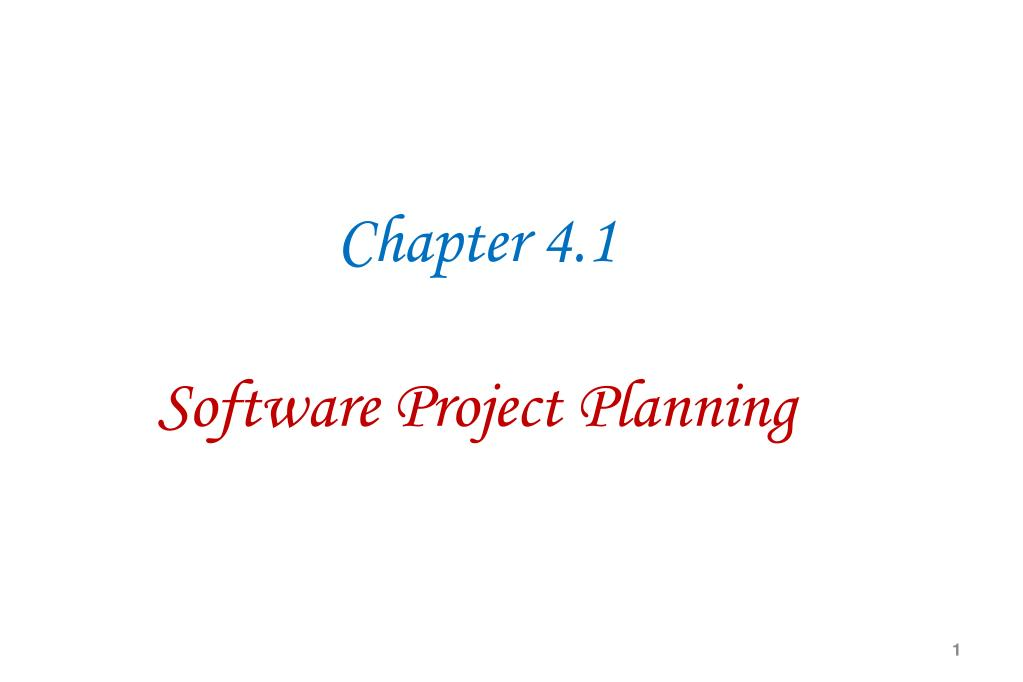 ppt chapter 4 1 software project planning powerpoint presentation