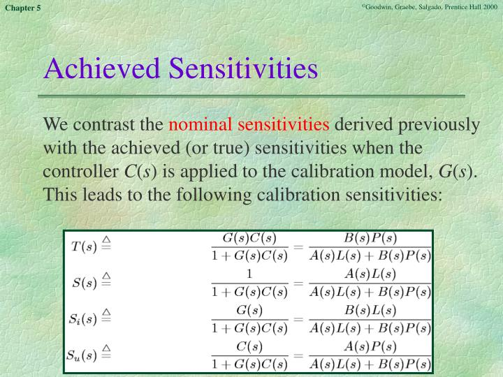 Achieved Sensitivities