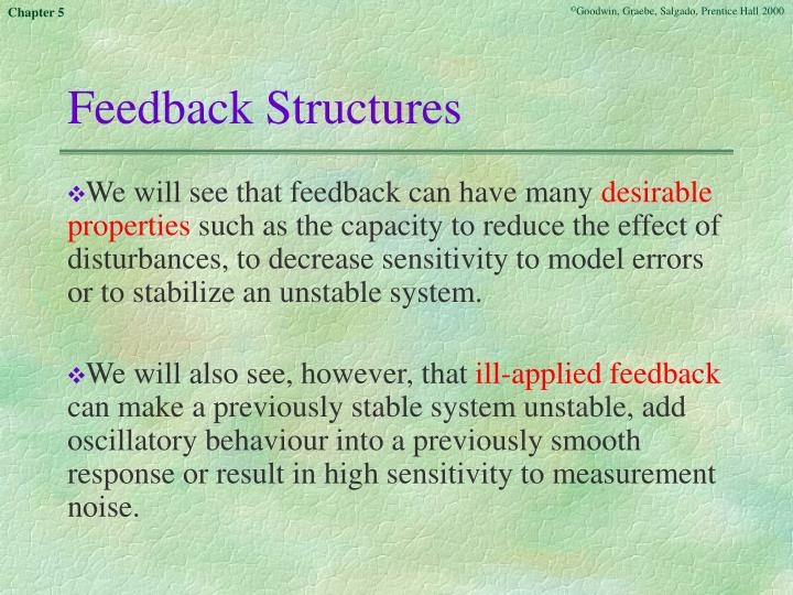 Feedback structures