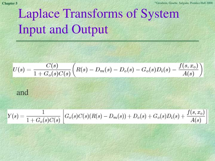 Laplace Transforms of System Input and Output