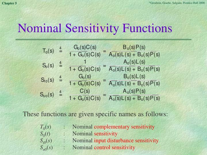 Nominal Sensitivity Functions