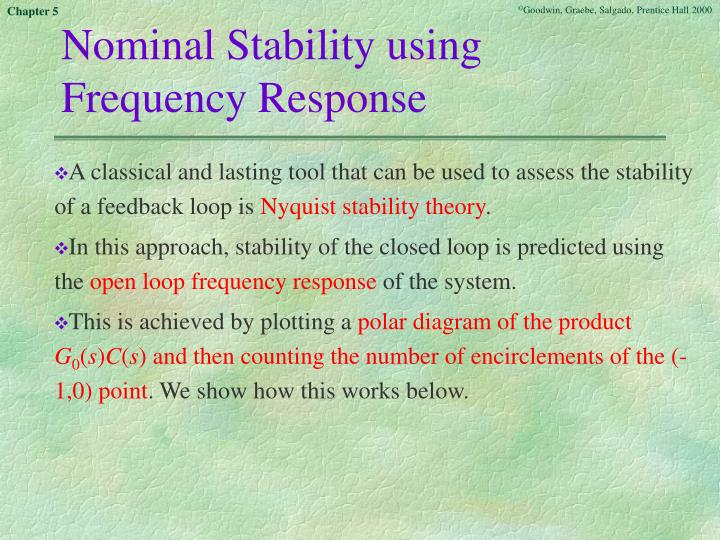 Nominal Stability using Frequency Response
