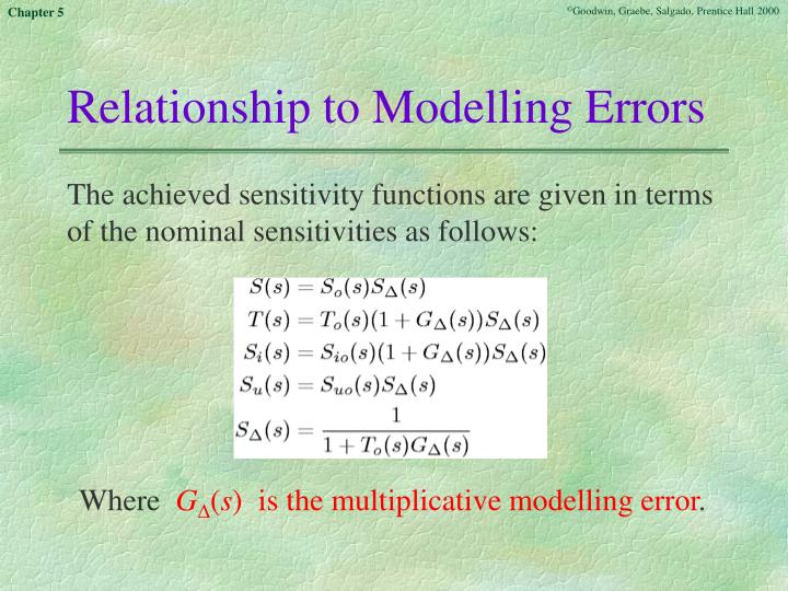 Relationship to Modelling Errors