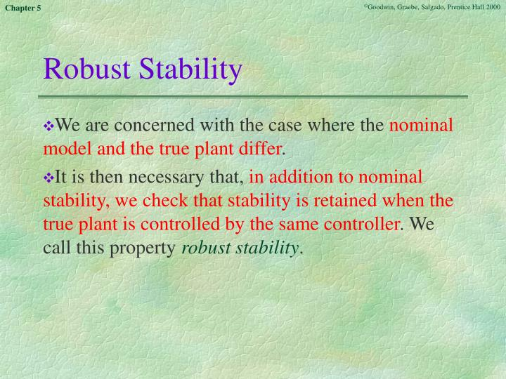 Robust Stability