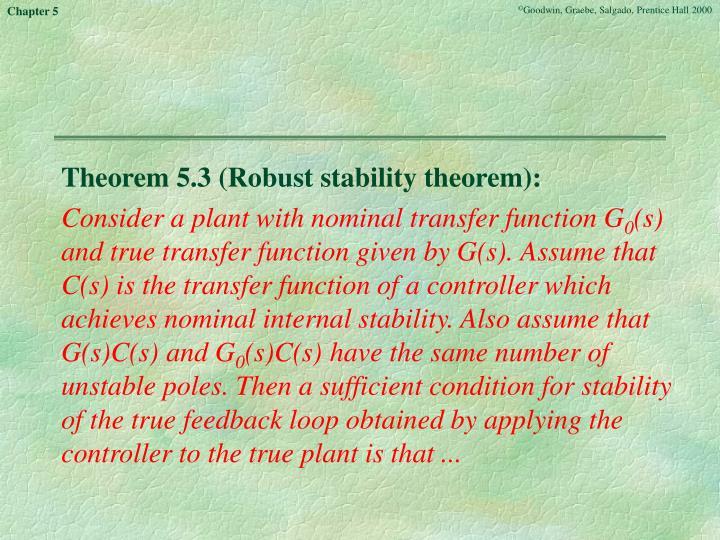 Theorem 5.3 (Robust stability theorem):