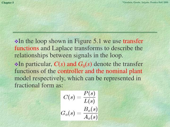 In the loop shown in Figure 5.1 we use