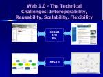 web 1 0 the technical challenges interoperability reusability scalability flexibility