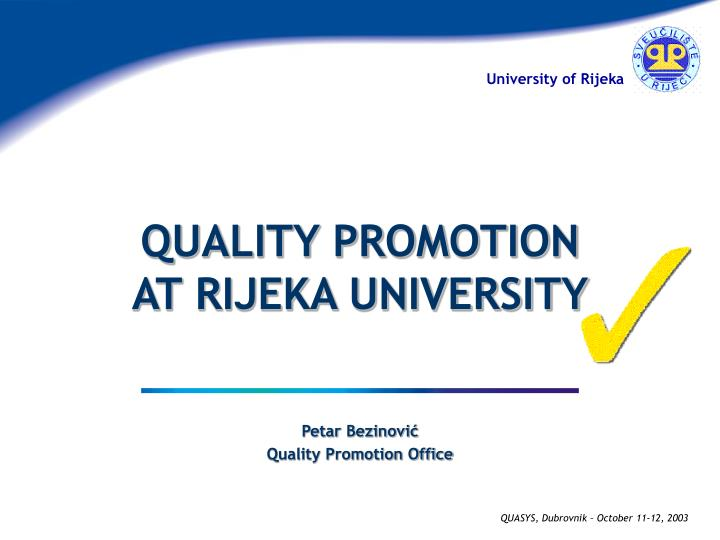 petar bezinovi quality promotion office n.