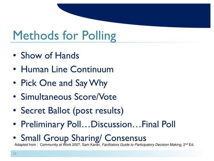 Methods for Polling