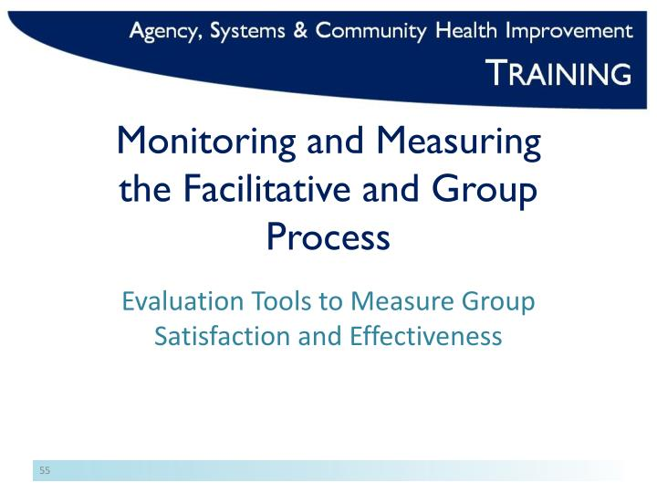 Monitoring and Measuring