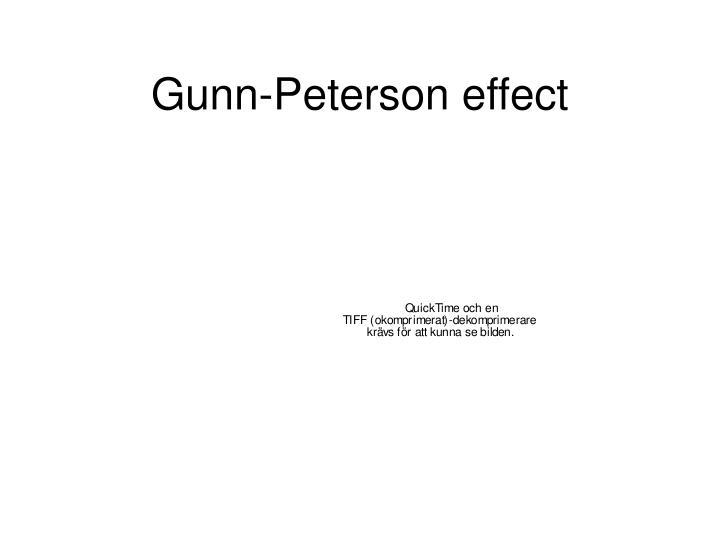 Gunn-Peterson effect