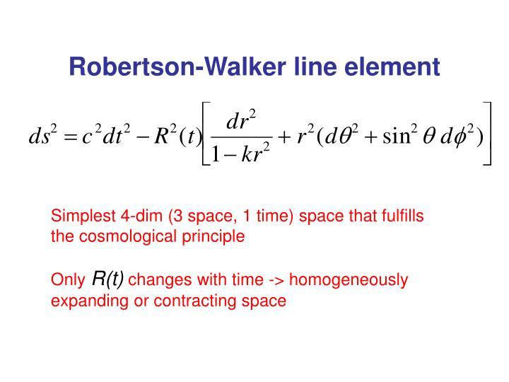 Robertson-Walker line element