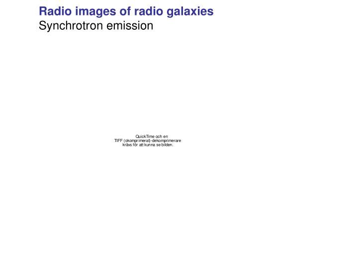 Radio images of radio galaxies