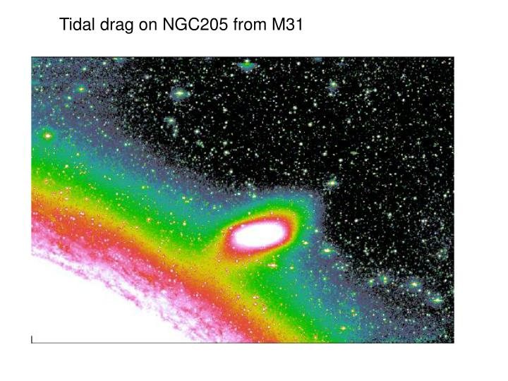 Tidal drag on NGC205 from M31