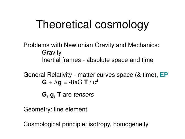 Theoretical cosmology