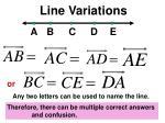 line variations