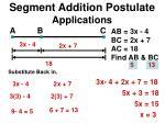 segment addition postulate applications3